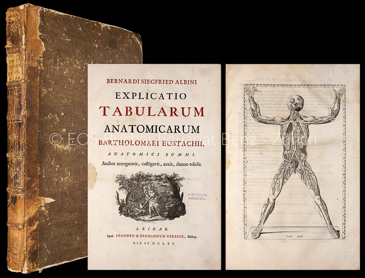 Albinus, Bernhard Siegfried: -Explicatio tabularum anatomicarum Bartholomaei Eustachii.