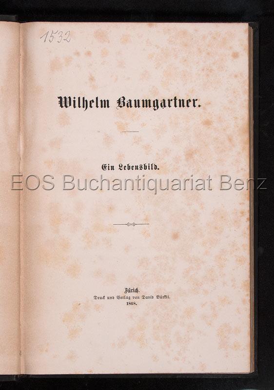 Widmer, Konrad: -Wilhelm Baumgartner.