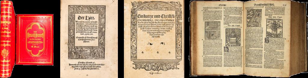 Alte theologische Werke der Reformation – alte Bibeln im EOS Buchantiquariat Benz in Zürich