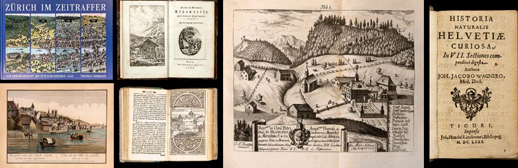 Alte Bücher über die Schweiz – Helvetica – Ansichtswerke im EOS Buchantiquariat in Zürich