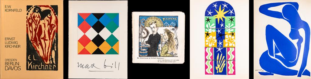 Alte Bücher Kunst – Ernst Ludwig Kirchner und Max Bill im EOS Buchantiquariat Benz in Zürich